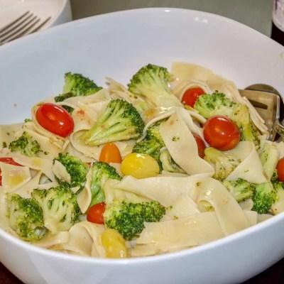 Quick Pasta and Veggies Dinner