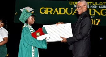 Serve your country' -President Granger tells St. Rose's High School's Class of 2017