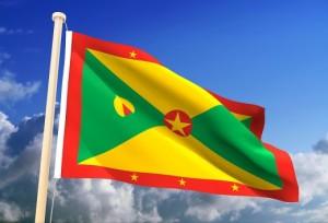 Grenada fluttering flag
