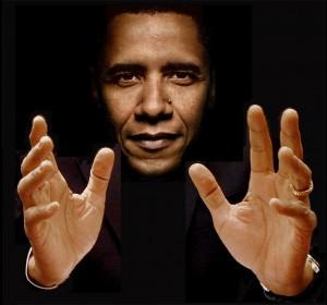 Portrait of President Barack Obama. Photo courtesy handfacts.wordpress.com
