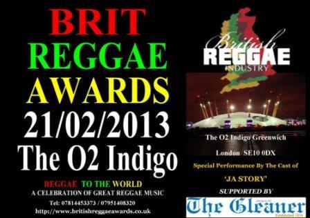 British Reggae awards Flyer side 1