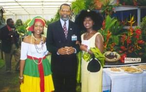 New Grenada High Commisioner Joselyn White in centre. Photo courtesy www.users.dialstart.net