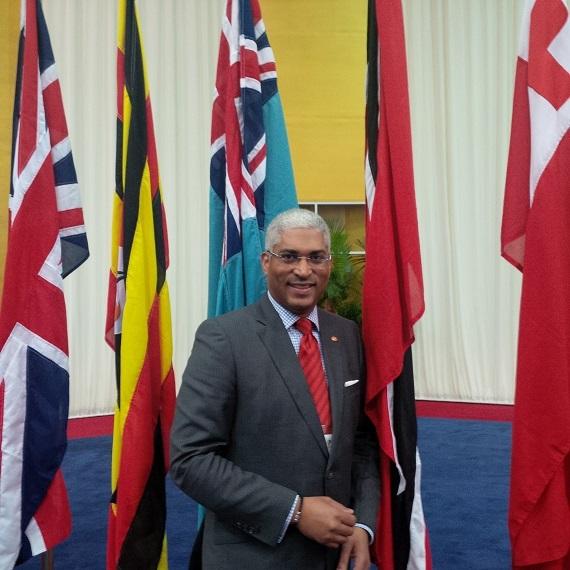 High Commissioner Garvin Nicholas at CHOG