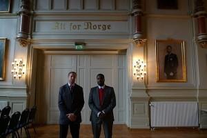 Lars Cuzner and Mohamed Ali Fadlabi  (photo: Kristine Jærn Pilgaard)
