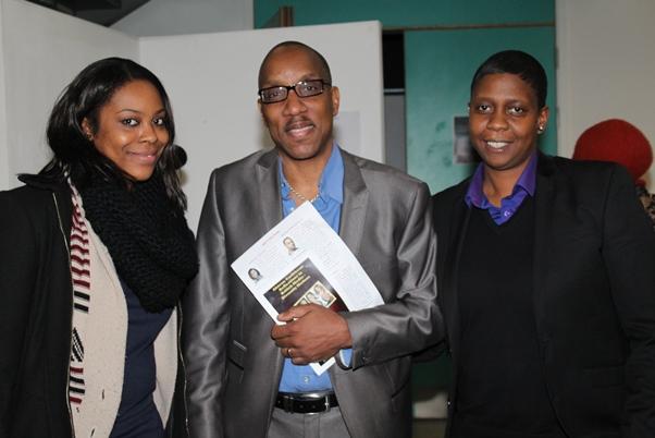 (l-r) Baby Isako creator / writer Venua vs Mars; CaribDirect CEO David F. Roberts; Black Visions TV's Michelle Riley
