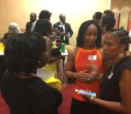 Jamaica Tourism Rep Tamara Christie and Jam Cham Board Members