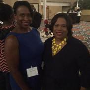 Carol Hall (USVI Ambassador) and Commissioner Doty