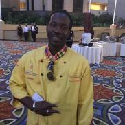 Chef Theo at CNN Center promoting culinary initiatives to territory
