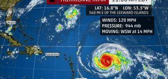 Hurricane Irma headed to Leeward Islands and Bahamas
