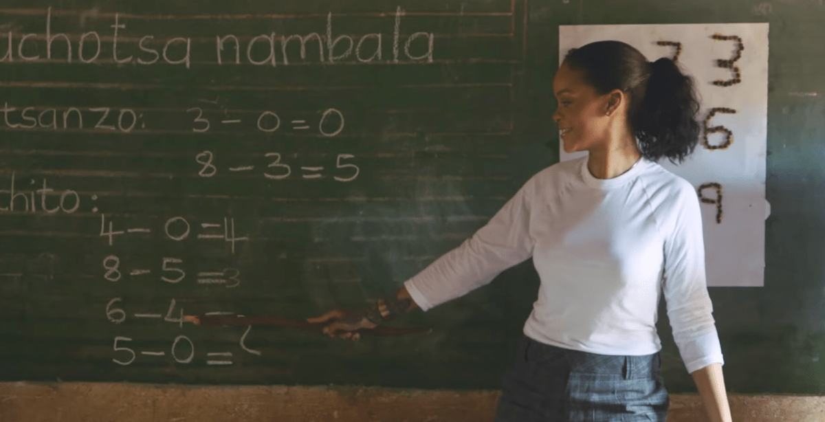 Rihanna fights for Global Education