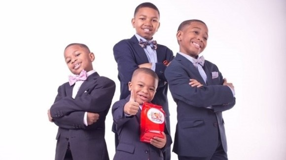 4 young boys cookie empire