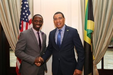 Prime Minister Holness and guest