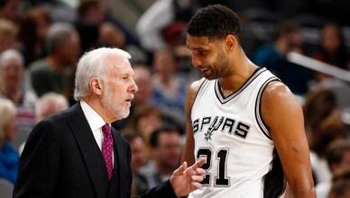San Antonio Spurs Gregg Popovich and Tim Duncan