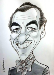 Caricatura de James Bond David Niven