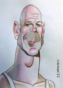 Caricatura rápida de de Bruce Willis