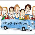 seniors graduation caricature