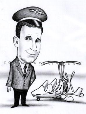 pilot caricature