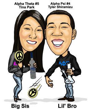 siblings caricature