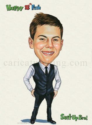 birthday caricature gift