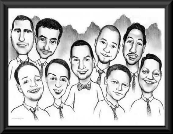 groomsmen caricature