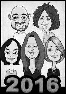 black and white workplace cartoon caricature