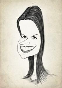 big exaggeration black and white caricature - caricatureking.com
