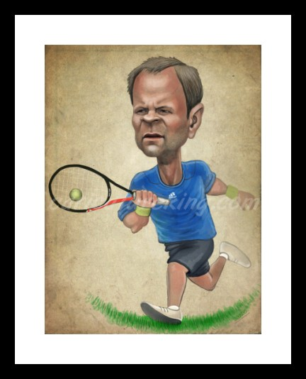 tennis theme caricature caricature from caricatureking.com