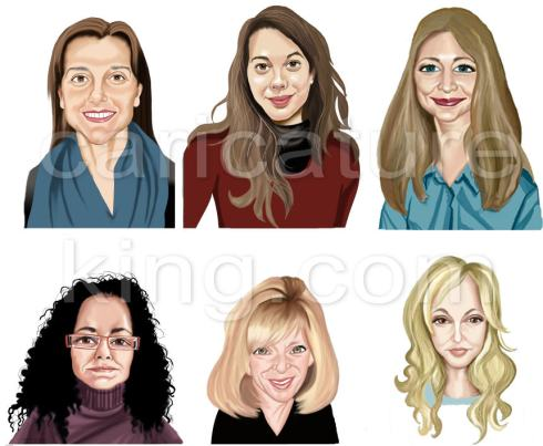 profile caricatures for website from caricatureking.com