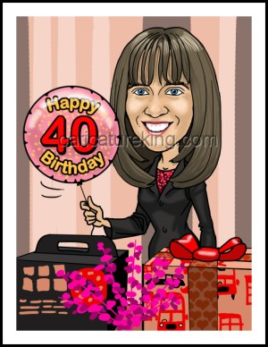 40th birthday gift from Caricature King