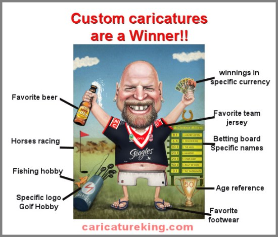 custom caricatures drawn from photo