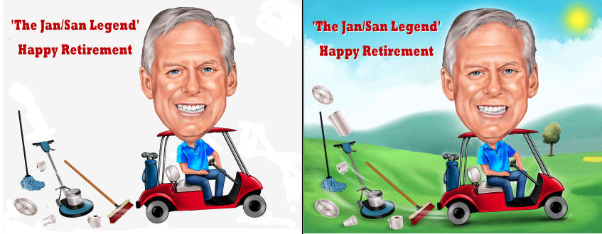 golfer retirement gift