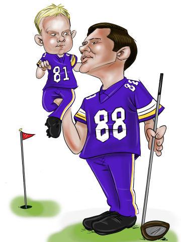 dad and boy art cartoon