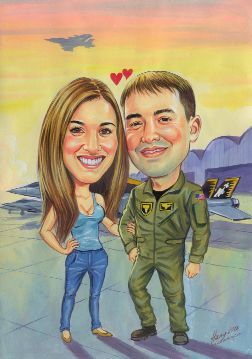 valentines day caricature art