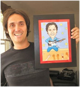 caricature in frame