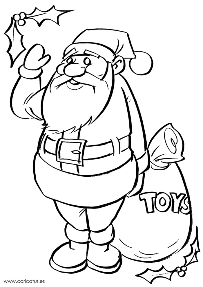 Black and White Santa drawing for colouring in! #edchatie