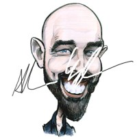 Caricatures Ireland Self portrait cartoon by Allan Cavanagh