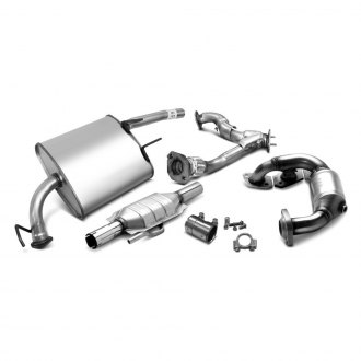cross section diagram of muffler 2000 nissan altima engine replacement exhaust parts mufflers pipes catalytic converters bosal kit