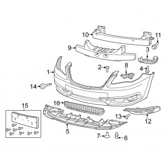 2012 Chrysler 200 Replacement Bumpers & Components