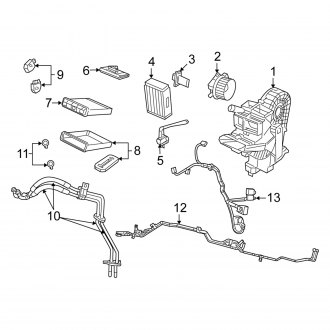 2010 Chrysler Town and Country Replacement Heater Cores