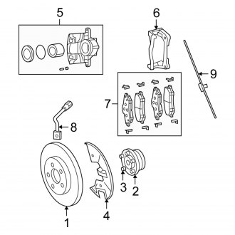 2012 Chrysler Town and Country Replacement Brake Parts
