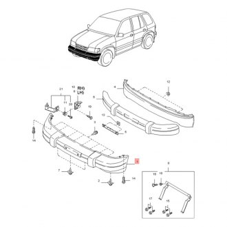 2000 Kia Sportage Replacement Bumpers & Components