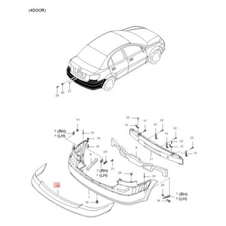 2008 Kia Rio Replacement Bumpers & Components