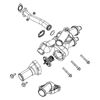 2008 Dodge Caliber Thermostat Diagram. Dodge. Auto Parts