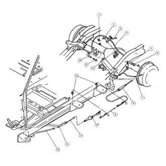 2001 Dodge Dakota Replacement Parking Brake Components