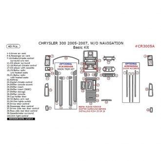 2007 Chrysler 300 Custom Headlight & Tail Light Covers