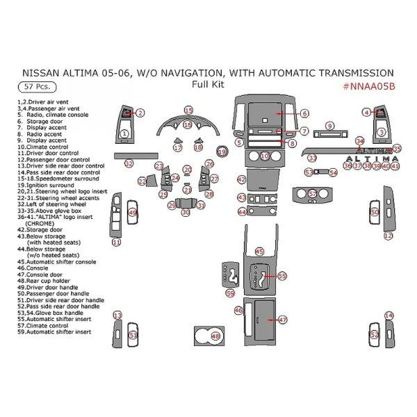 Nissan Altima 2005 Dash Kit
