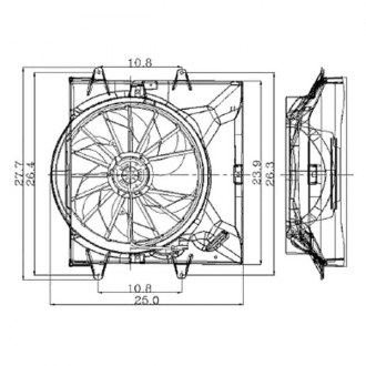 2000 Jeep Grand Cherokee Replacement Radiator Fans — CARiD.com