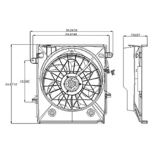 Replace® FO3115161  Ford Ranger 20012010 Radiator Fan Assembly