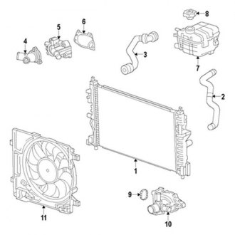 2014 Chevy Spark Replacement Engine Cooling Parts