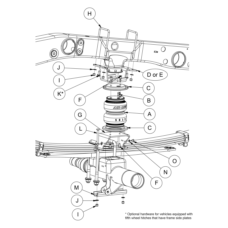 For Chevy Silverado Hd 11 18 Air Lift Loadlifter